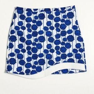 Topshop Skirt Mini Floral Print Blue Size 8